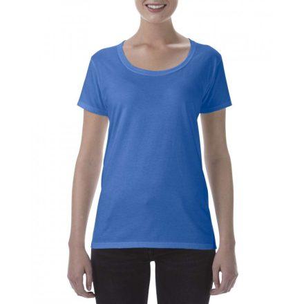 Lágy tapintásu Gildan női póló, királykék