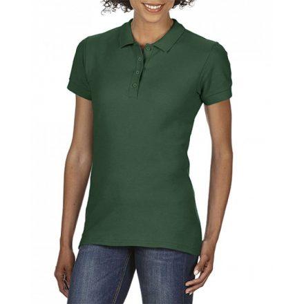 Gildan SOFTSTYLE Női dupla piké póló, Forest Green