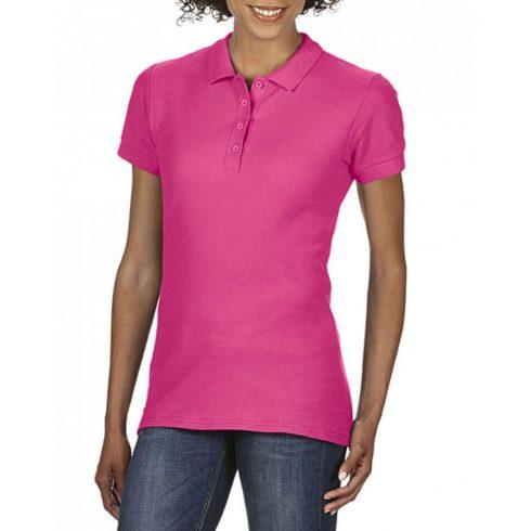 Gildan SOFTSTYLE Női dupla piké póló, Heliconia