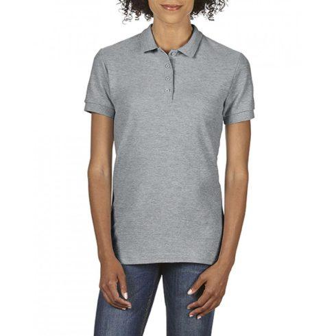 Gildan SOFTSTYLE Női dupla piké póló, RS Sport Grey
