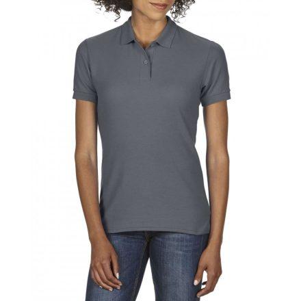 Gildan DryBlend Női póló dupla piké anyagból, Charcoal