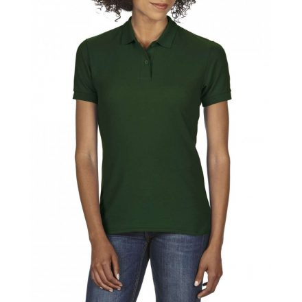 Gildan DryBlend Női póló dupla piké anyagból, sötétzöld