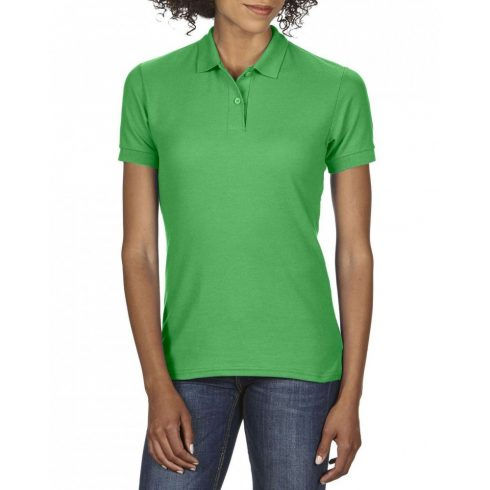 Gildan DryBlend Női póló dupla piké anyagból, Irish Green