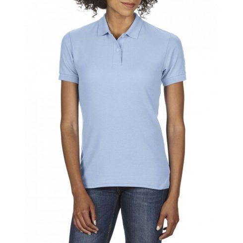 Gildan DryBlend Női póló dupla piké anyagból, világoskék