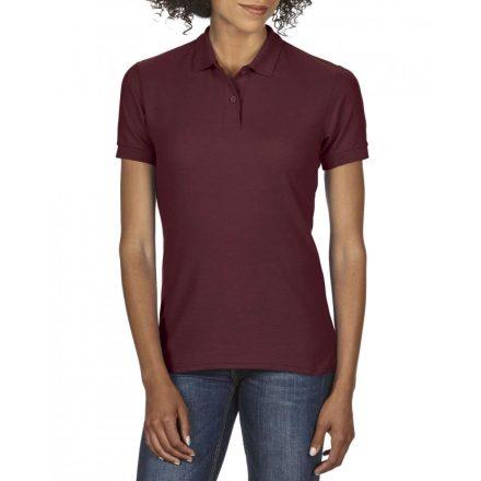 Gildan DryBlend Női póló dupla piké anyagból, maroon