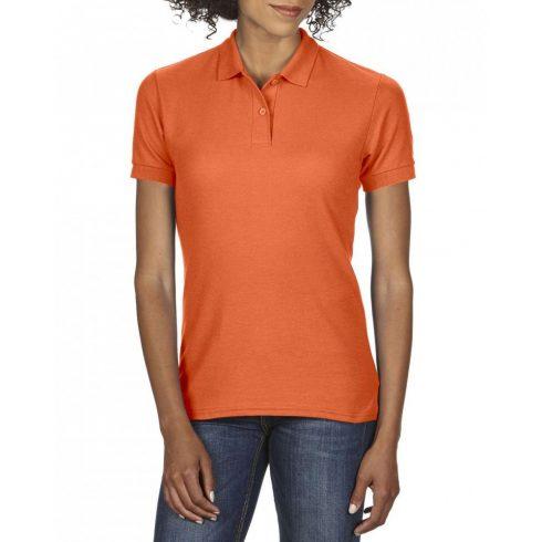 Gildan DryBlend Női póló dupla piké anyagból, narancs