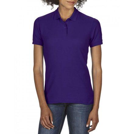 Gildan DryBlend Női póló dupla piké anyagból, lila