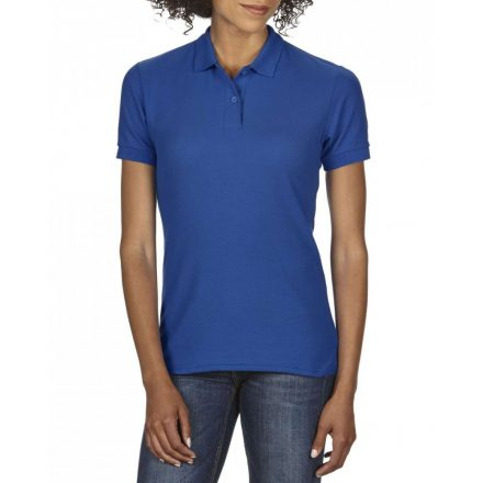 Gildan DryBlend Női póló dupla piké anyagból, royal