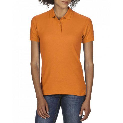 Gildan DryBlend Női póló dupla piké anyagból, Safety Orange