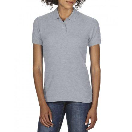 Gildan DryBlend Női póló dupla piké anyagból, sportszürke