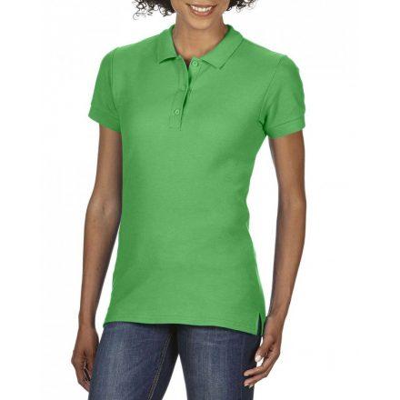 Gildan prémium Női dupla piké póló, irish green
