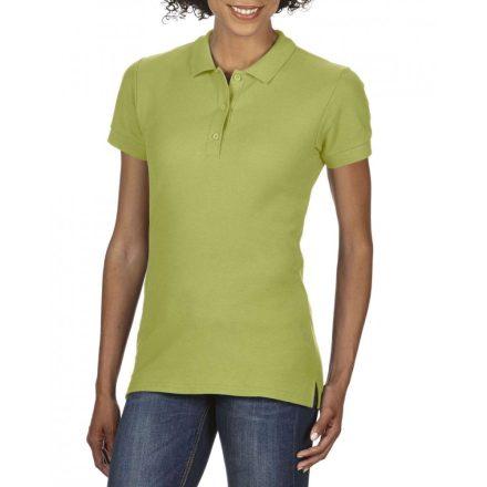 Gildan prémium Női dupla piké póló, kiwi