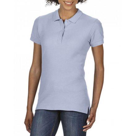 Gildan prémium Női dupla piké póló, világoskék