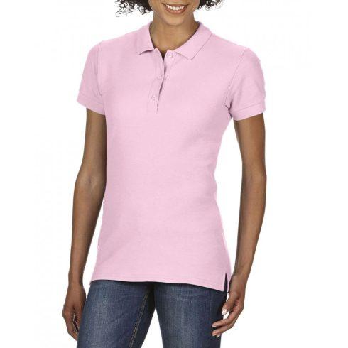 Gildan prémium Női dupla piké póló, light pink