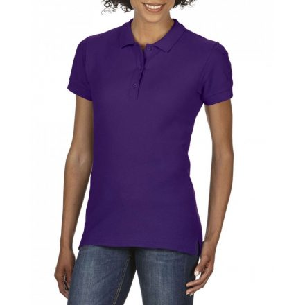 Gildan prémium Női dupla piké póló, lila