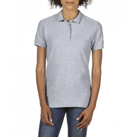 Gildan prémium Női dupla piké póló, sportszürke