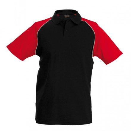 Kariban póló, fekete/piros