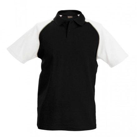 Kariban póló, fekete/fehér