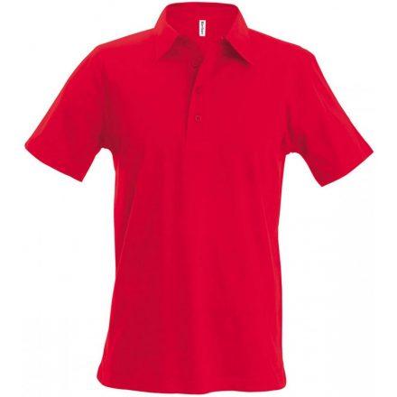 Kariban galléros póló, piros
