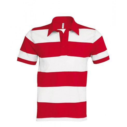 Kariban keresztbe csíkos póló, piros/fehér