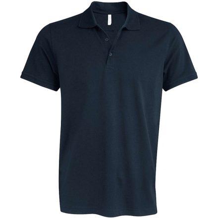 Kariban kötött galléros póló, sötétszürke
