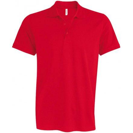 Kariban kötött galléros póló, piros