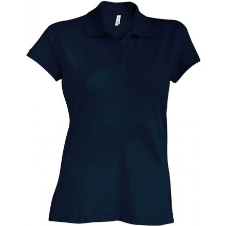 Kariban Női kötött galléros póló, sötétkék