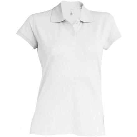 Kariban Női kötött galléros póló, fehér