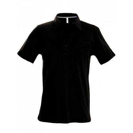 Kariban férfi galléros póló, fekete