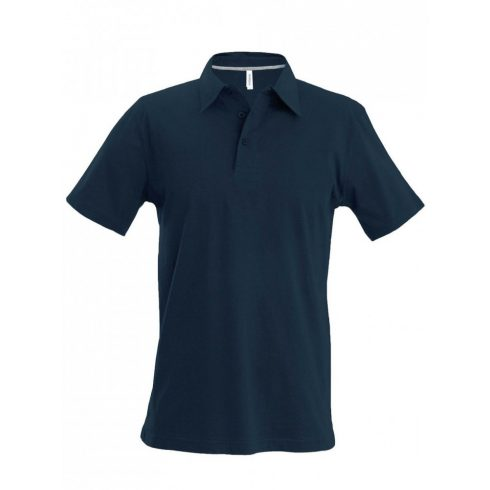 Kariban férfi galléros póló, sötétszürke