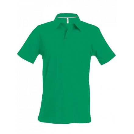 Kariban férfi galléros póló, fűzöld