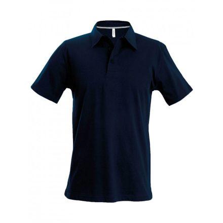 Kariban férfi galléros póló, sötétkék