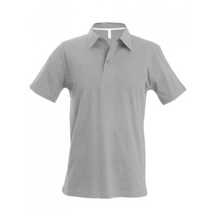 Kariban férfi galléros póló, oxford szürke