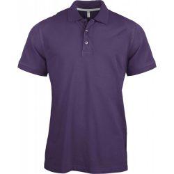 Kariban férfi galléros póló, lila