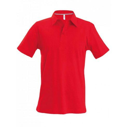 Kariban férfi galléros póló, piros
