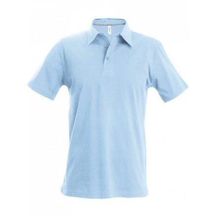 Kariban férfi galléros póló, égkék