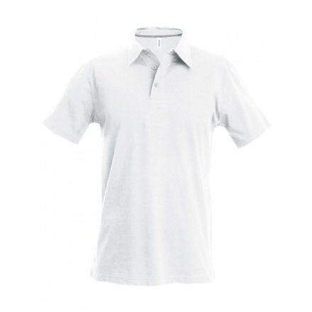 Kariban férfi galléros póló, fehér