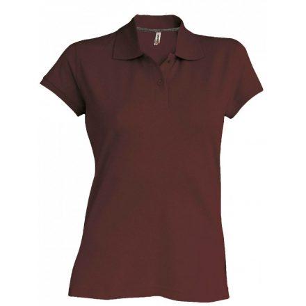 Kariban Női galléros piké póló, csokoládé