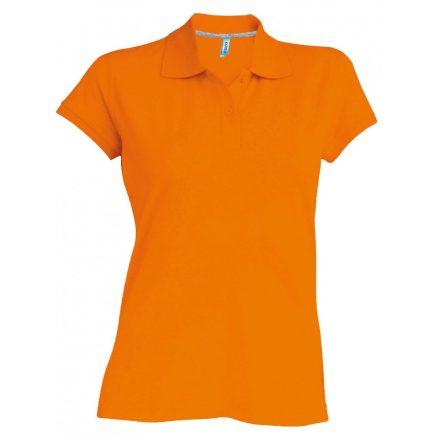 Kariban Női galléros piké póló, narancs