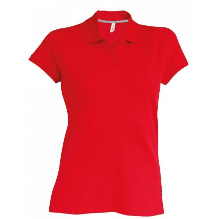 Kariban Női galléros piké póló, piros