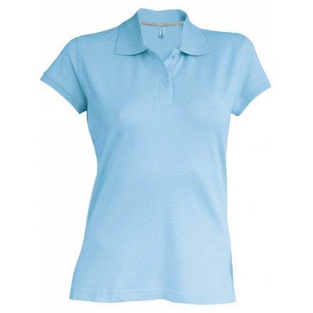 Kariban Női galléros piké póló, égkék