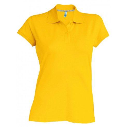 Kariban Női galléros piké póló, sárga