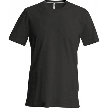 Kariban karcsusított pamut póló, fekete