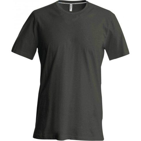 Kariban karcsusított pamut póló, sötétkhaki