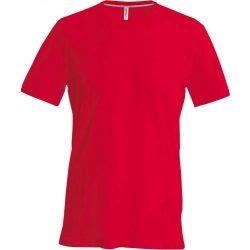 Kariban karcsusított pamut póló, piros