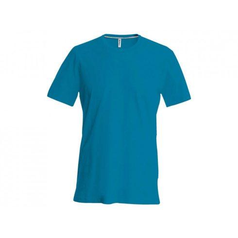 Kariban karcsusított pamut póló, tropical kék