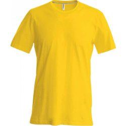 Kariban karcsusított pamut póló, sárga