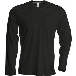 Kariban hosszúujjú karcsusított póló, fekete