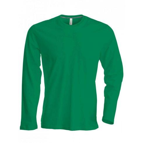 Kariban hosszúujjú karcsusított póló, fűzöld
