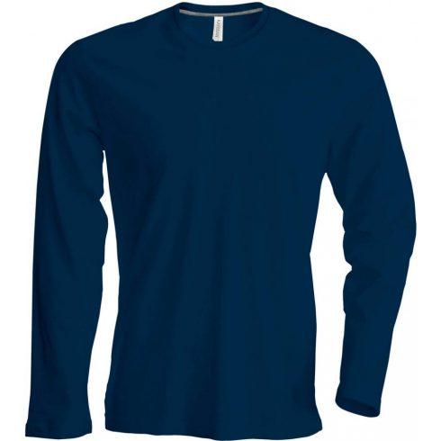 Kariban hosszúujjú karcsusított póló, sötétkék